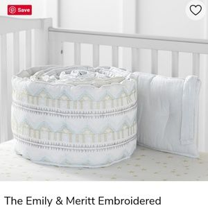 Emily and Meritt Embroidered bumper